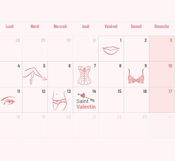 calendrier saint valentin LPG